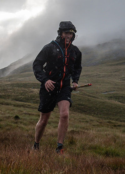 Jay completing Ultra Trail Wales